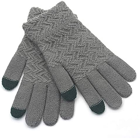 Gloves Men Winter Warm Soft Simple Outdoor All-match Trendy Fashion Leisure Bicycle Adults Mittens Mens Glove New - (Color: danhui, Gloves Size: One Size)