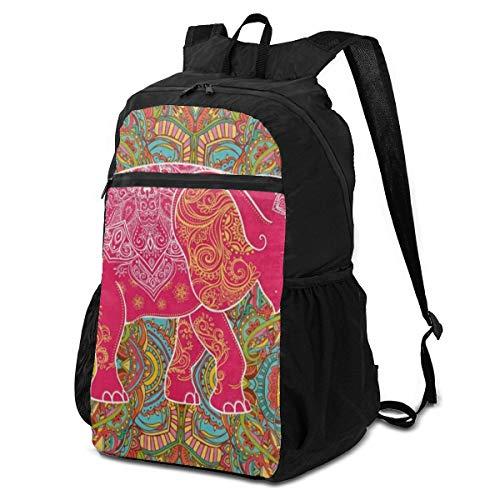 Computer Backpack Floral Mandala Elephant Mens Shoulder Backpacks Bag Bookbag Daypack