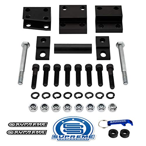 Supreme Suspensions - Differential Drop Kit for 2006-2009 Mitsubishi Raider High Strength Steel Diff Drop Brackets 4WD