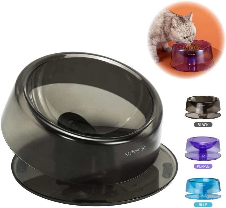 REDMINUT Tilted Cat Food Bowls,Raised Cat Food and Water Bowl,Non Slip Pet Bowl Dish for Indoor Cat or Small Dog,Stress Free 0-22°Adjustable Tilted Cat Bowl,Reliefs Whisker Fatigue,Dishwasher Safe