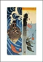 Utagawa Kuniyoshi 14x20 Art Print - Octopus, Red Fish