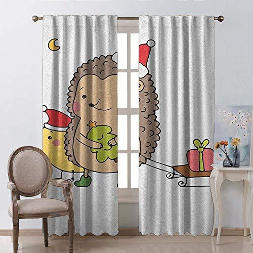 chrismas gordijn voor ramen, Tea Party Vintage Serviesgoed Patroon met ronde bloemen motieven rode bessen en stippen staaf Pocket venster gordijnen