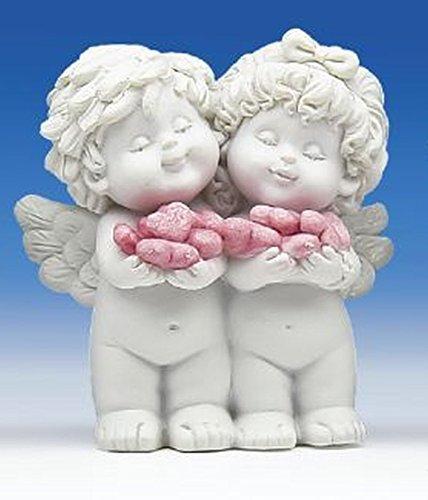 Engel Igor & Olga met kleine hartjes als liefdespaar in papieren zak als bruiloftsdecoratie of gastgeschenk 82305-3