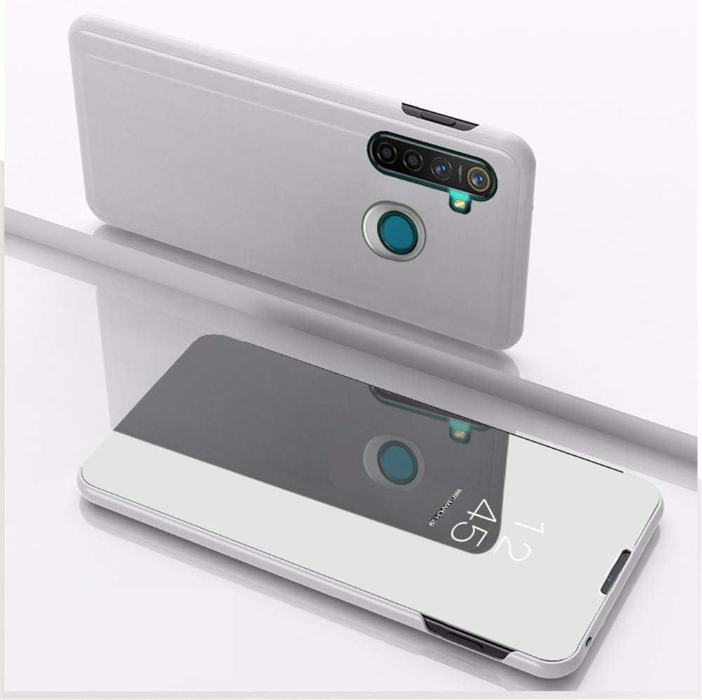 Realme 5i Makeup Mirror Case Mince Plating Clear View Antichoc Housse /Étui pour Oppo Realme 5S C3 Mirror PU Gold MX. COTDINFORCA Cover pour Realme 5 Coque Flip