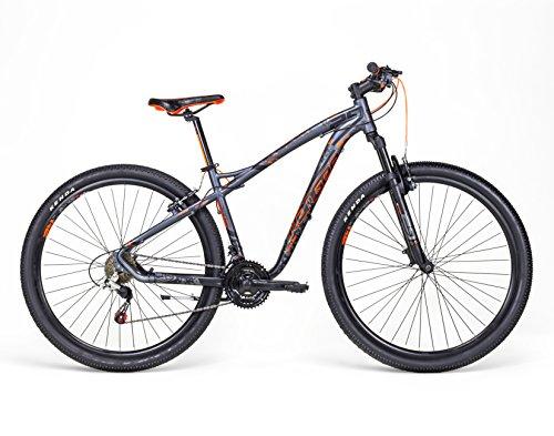 Mercurio Ranger R29 – Bicicleta con suspensión para hombre, negro/naranja