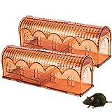 Trampas para Ratas, Winzwon 2 Piezas Trampa para Ratón Reutilizable para Ratones y Otros Animales pequeños, Trampas para Ratones para Jardín Hogar Cocina Almacén Garaje