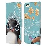 Head Case Designs Licenciado Oficialmente Animal Club International Penguin Royal Faces Carcasa de Cuero Tipo Libro Compatible con Apple iPhone 6 Plus/iPhone 6s Plus