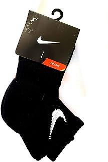 Nike No show CHILDRENS Calcetines Negro uk9-10 eu27-28 us10c-13c
