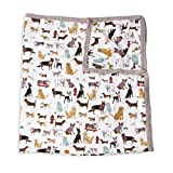 """Little Unicorn – Quilt Big Kid- Woof Cotton Muslin Quilt X-Large Blanket 