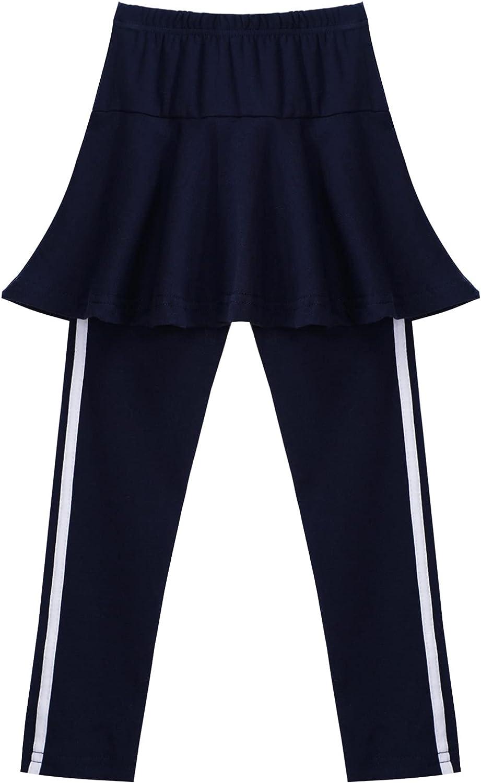 TiaoBug Girls Toddlers Leggings Pants with Ruffled Tutu Skirt Kids Stretchy Footless Leggings Tights Pants