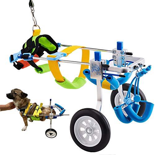 HobeyHove Adjustable Large Dog Cart/Wheelchair, for Back Legs Large Dog Wheelchair Light Weight (7-Size)(XXS)