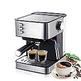 Máquina De Espresso con Bomba, Cafetera Espresso 15 Barras con Varita De Leche Espumosa, Control De...