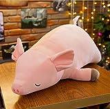 MKmd-s Stitch Stuffed Animals Doll Soft Toy, Lying Down Pink Pig Animal Gift, Decoración Mini Peluches para niñas 60CM