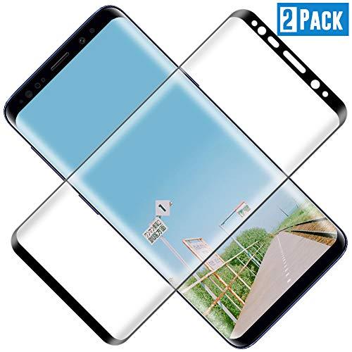 TOCYORIC Protector de Pantalla para Samsung Galaxy S8, 3D Curvo Full-Cover Cristal Templado Galaxy S8, Alta Definicion, 9H Dureza, Vidrio Templado para Samsung S8 [2 Pack]