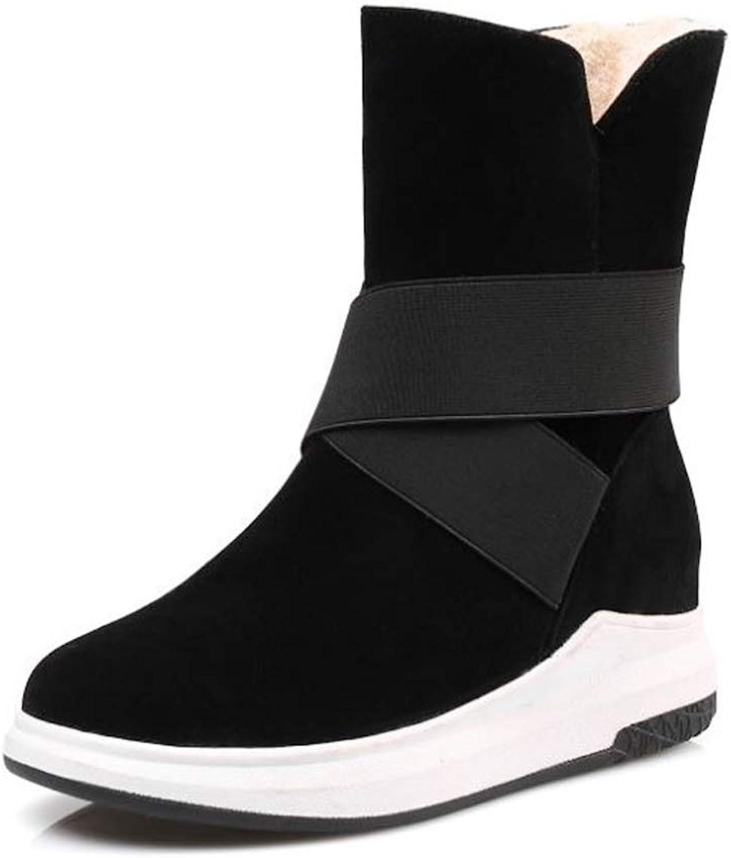 pink town Women's shoes Booties Plus Velvet Non-Slip Warm Snow Boots