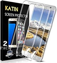 [2-Pack] KATIN For Samsung Galaxy S6 Edge Plus Screen Protector 3D TPU Full Max Coverage, Case Friendly, Easy to Install, No-Bubble