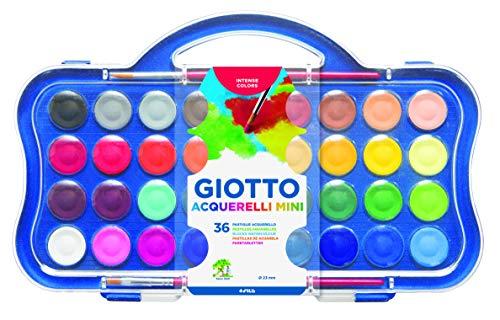 Giotto 352700 Box 36 Aquarellfarben Mini, sortiert, Pans, Count