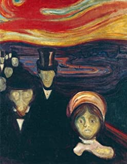 Anxiety, Edvard Munch. Blank journal: 150 blank pages, 8,5x11 inch (21.59 x 27.94 cm) Laminated