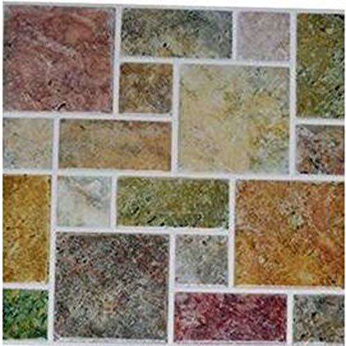 PMSMT 2019 Nuevas Tendencias Azulejos Impermeables Pegatina de Pared de Mosaico Cocina baño baño Adhesivo PVC Papel Tapiz Resistente al Calor decoración de Pared