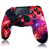 CHENGDAO Wireless Controller for PS4,High Performance Double Vibration Gamepad Compatible with Playstation 4/Pro/Slim/PC with Audio Function, Mini LED Indicator, USB Cable (Galaxy)