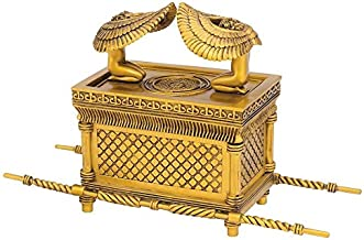 Design Toscano Ark of the Covenant Religious Statue, 11 Inch, Polyresin, Gold