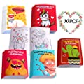 Eternity sky 30PCS Valentines Coloring Books for Kids-Valentine's Day Goodie Bag Stuffer Filler Gift School Activity Party Favors Supplies