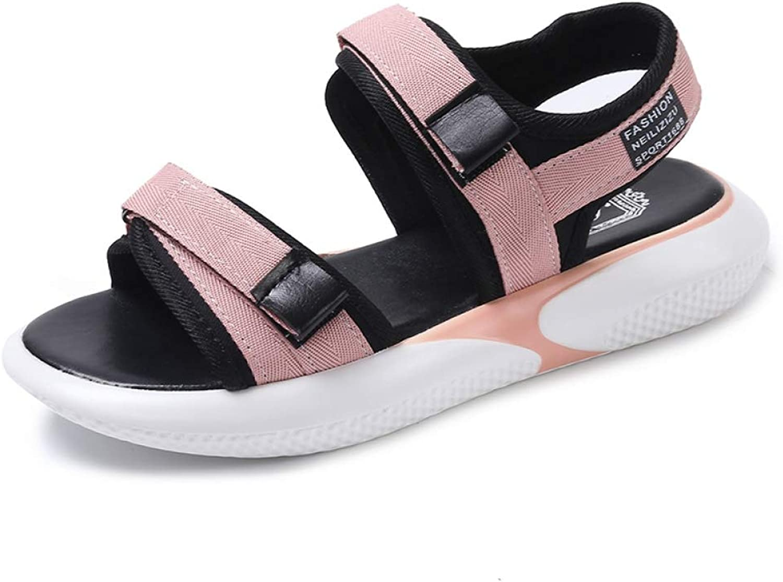 MEIZOKEN Womens Flatform Wedge Sandals Summer Breathable Sneakers Ladies Hook Loop Open Toe Walking shoes
