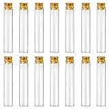 Glass Test Tubes - 30pcs 25ml Clear Flat Test Tubes with Cork Stoppers, 20×100mm by DEPEP...