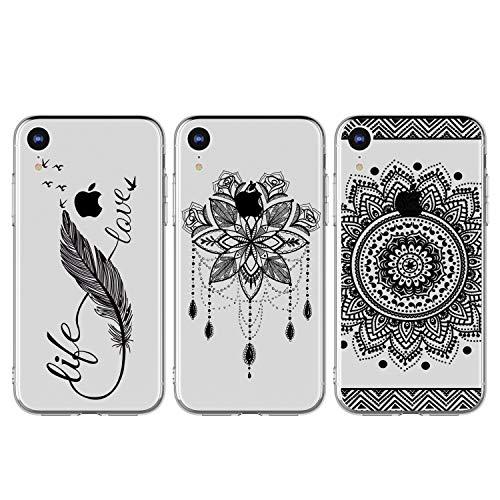 idlehour - Carcasa para iPhone XR, pintada, 3 unidades, silicona, TPU, ultrafina, antigolpes, SET7