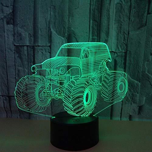 LIkaxyd LED 3D-nachtlampje, optische illusielamp 7 kleuren veranderen, Touch USB & batterij-aangedreven speelgoed decoratieve lamp, beste cadeau voor kinderen-trekker