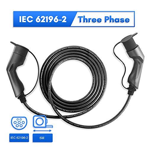 Morec ev ladekabel 32A Dreiphase 22KW für EV Charger ev ladegerät Ladestation typ 2 zu typ 2, IEC 62196-2 5M