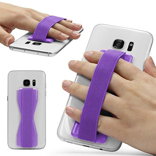 URCOVER Impugnatura Smartphone Universale Selfie Strap | Sostegno Smartphone Tablet in Lilla | Supporto Telefono Adesivo Accessori