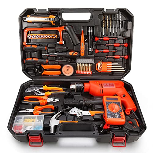 juego de alicates Un conjunto completo de herramientas de hardware para el hogar establece una combinación de herramientas de energía de la caja de herramientas multifunción de carpintería con el conj