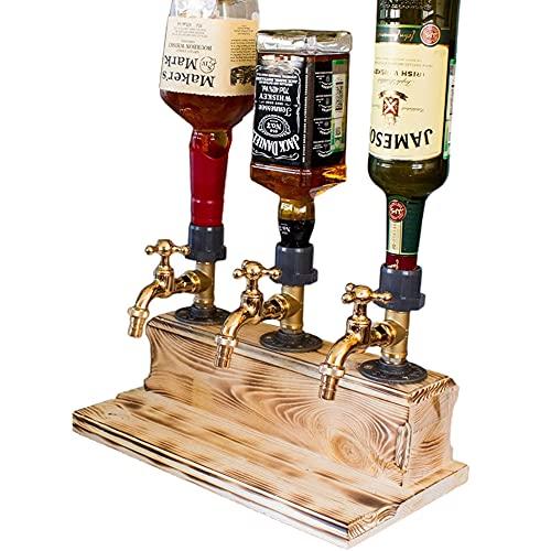 Dispensador de whisky con alcohol y licor en forma de grifo, dispensador de vino para el día del padre, dispensador de jugo y bebida, para cenas de fiesta, bares y estaciones de bebidas,Triple