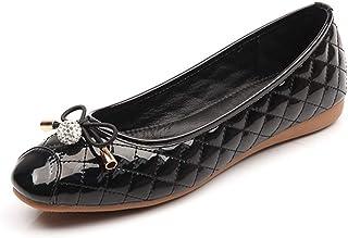 バレエシューズ パンプス痛くない 黒 赤 リボン 小さいサイズ 大きいサイズ ラウンドトゥ フラット エナメル レディース 靴 歩きやすい フラットシューズ ぺたんこ パンプス ローヒール 走れる