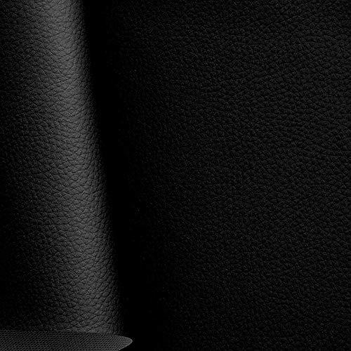 hochwertiges Kunstleder in Schwarz - als Polster-Stoff/Sitzbezug für den Innenbereich - anschmiegsam abriebfest pflegeleicht