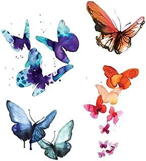 Tattly Temporary Tattoos Watercolor Butterflies Set