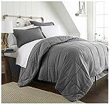 Becky Cameron Box ienjoy Home 8 Piece Bed in a Bag, Queen, Gray