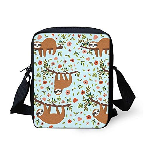 Cool Drawstring Bag Animation Emotions Sloth Portable Fitness Backpack Gymsack