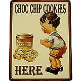 GR Blechschild Cookies Kekse Küche Deko Tür Wand Schild Metall Retro Nostalgie Blech Eisen