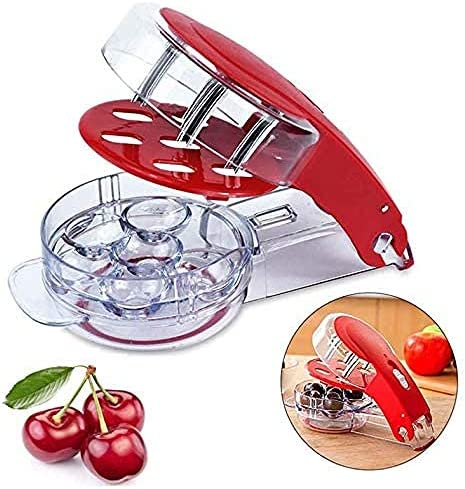 Cherry Pitter Stainless Steel Multiple Cherry Seed Extractor Remover Machine with Pits and Juice product image