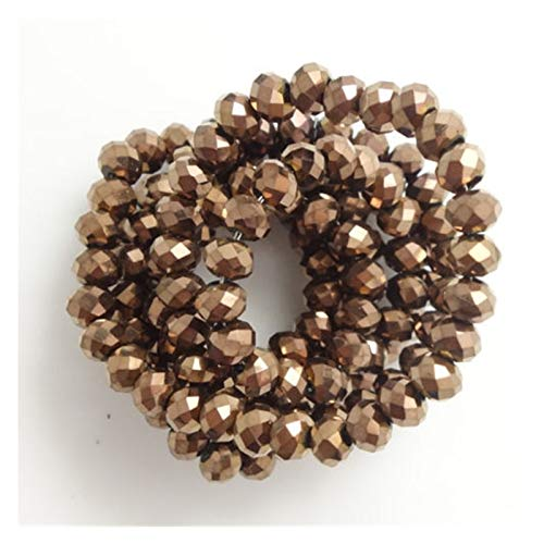 Cuentas espaciadoras 4 * 3mm Crystal Beads Czech Faceted Jewelry Hallazgos Spacer Pendientes Brazalete Pulsera Lariat Collar Accesorios Hecho a mano ( Color : Colorful , Item Diameter : 4x6mm 90pcs )