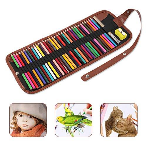 Lápices de Colores, Lapices de Dibujo Profesionales, Kit de Lápiz de Color para Niños Adultos, Dibujo de Arte, Manualidades, Bocetos, Colorantes (36 piezas)