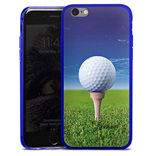 DeinDesign Apple iPhone 6s Slim Case transparent blau Silikon Hülle Schutzhülle Golf Golfball Sport