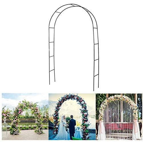 Arca di Nozze Tonnelle da Giorno Decorazione, Fiore dell'Arco di Sostegno da Arbor Giardino di Nozze per La Festa di Compleanno Decorazione Wedding, 240X140x38cm,Metallico