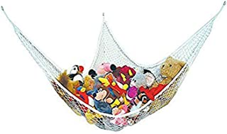 Aofocy LARGE HAMMOCK FOR SOFT TOY TEDDY KEEP BABY CHILDRENS BEDROOM TIDY MESH STORAGE IDEAL FOR NURSERY PLAY CAN USED CORNER HAMMOCK