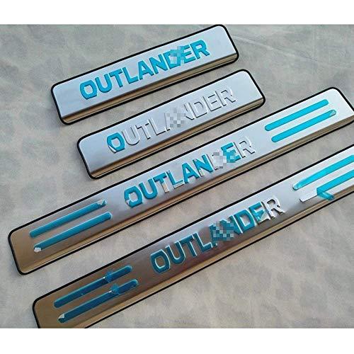 Acero Inoxidable Placa Alféizar Umbral Pasos Pedal para Mitsubishi Outlander 2007-2012, Coche Externo Bienvenida Umbral De Puerta AntiarañAzos Decorativos Accesorios