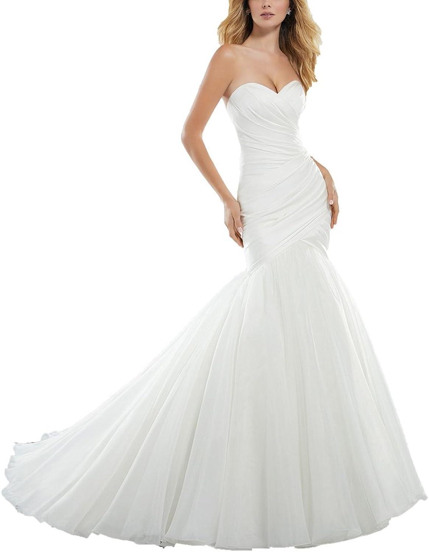 Tutu.vivi Sweetheart Mermaid Wedding Dresses for Bride 2018 Plus Size Bridal Gown