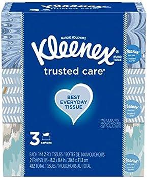 432-Count (3 x 144) Kleenex Everyday Facial Tissues