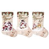 Haihuic Medias de Navidad, paquete de 3 unidades, bolsas colgantes para Navidad, calcetines de árbol de Navidad, decoración de Navidad